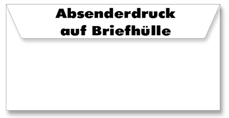 Extra - Hülle - Absenderdruck