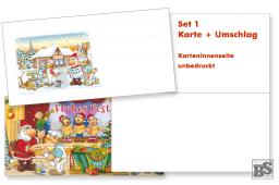 Maler-Weihnachtskarte Set 1, blanco