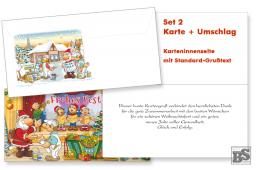 Maler-Weihnachtskarte Set 2, mit Grußtext