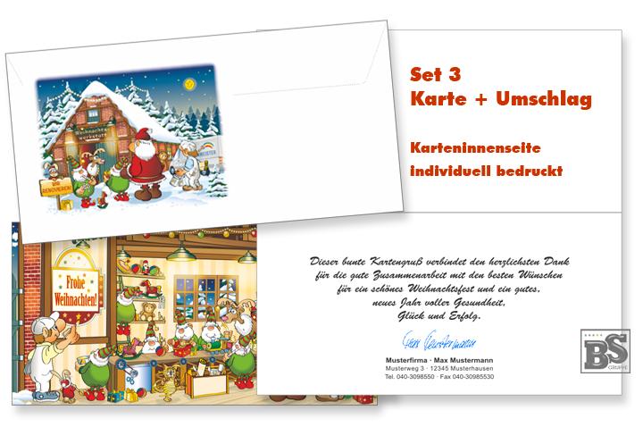 Weihnachtskarten Firma Individuell.Maler Weihnachtskarte Set 3 Individuell Maler Weihnachtskarten